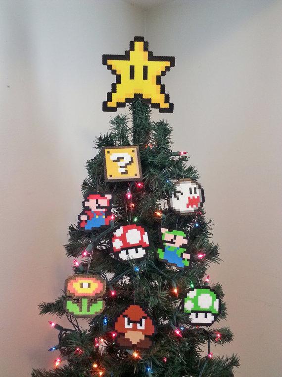 Décoration Noël Nintendo Fille Geek