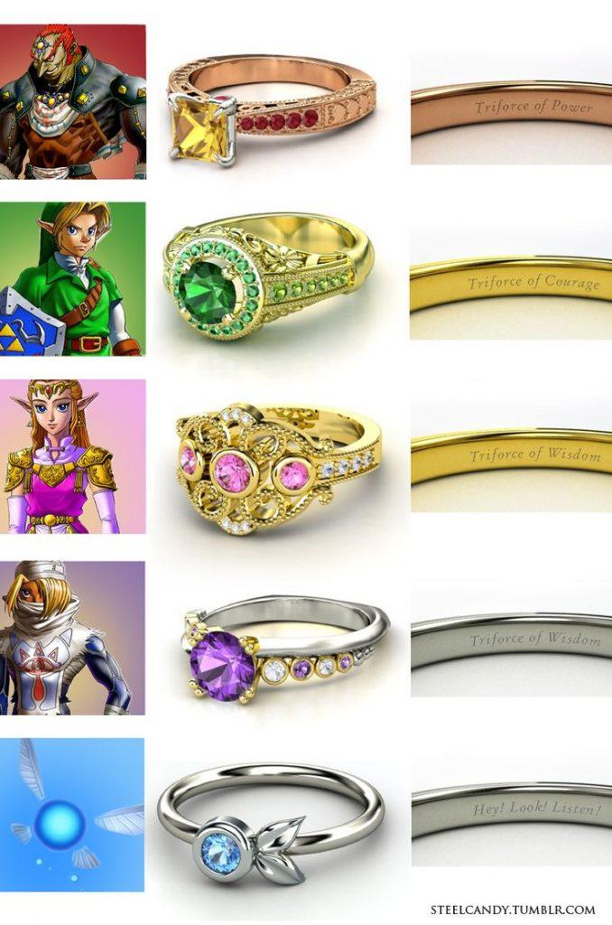 bagues Zelda Fille Geek