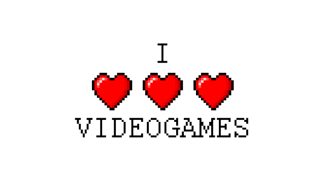 I Love Video games Fille Geek