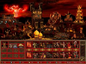 Heroes 3 Inferno ville et créatures Fille Geek