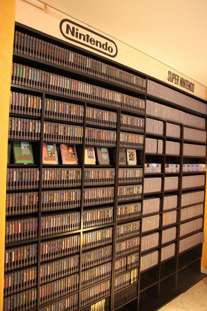 étagères jeux vidéo Fille Geek