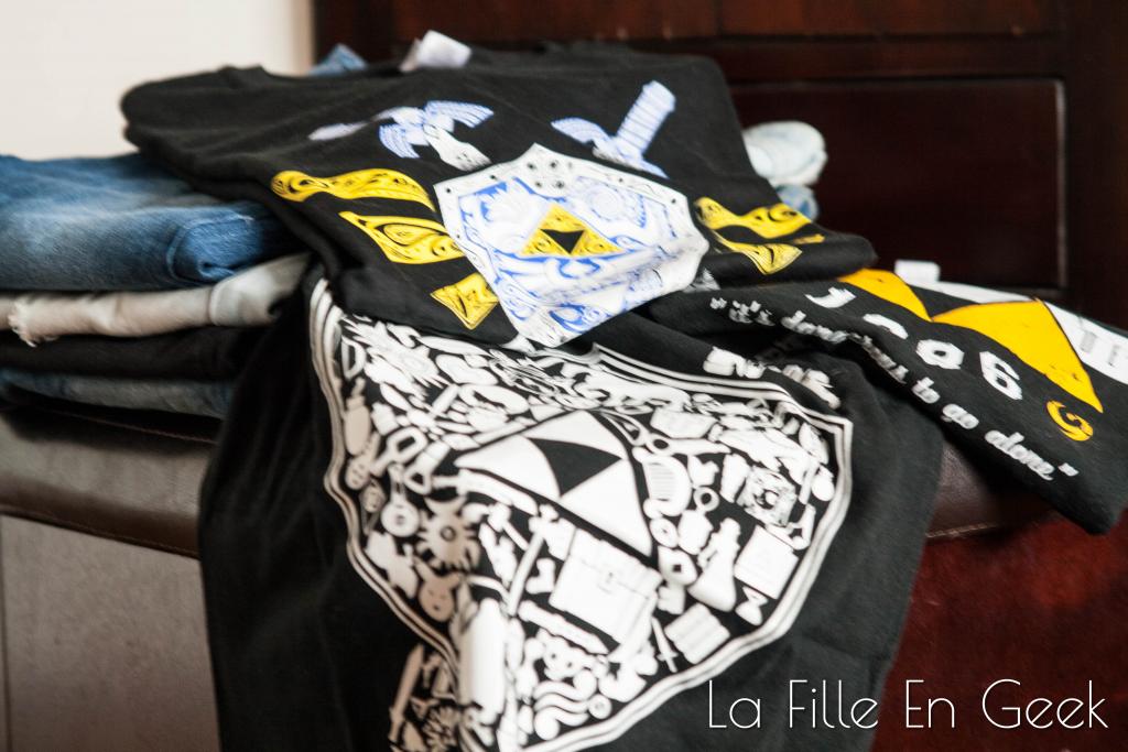 Tee-shirts Zelda Fille Geek