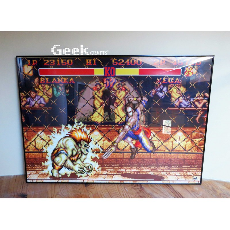tableau-blanka-vs-vega-street-fighter-ii-Geek-crafts