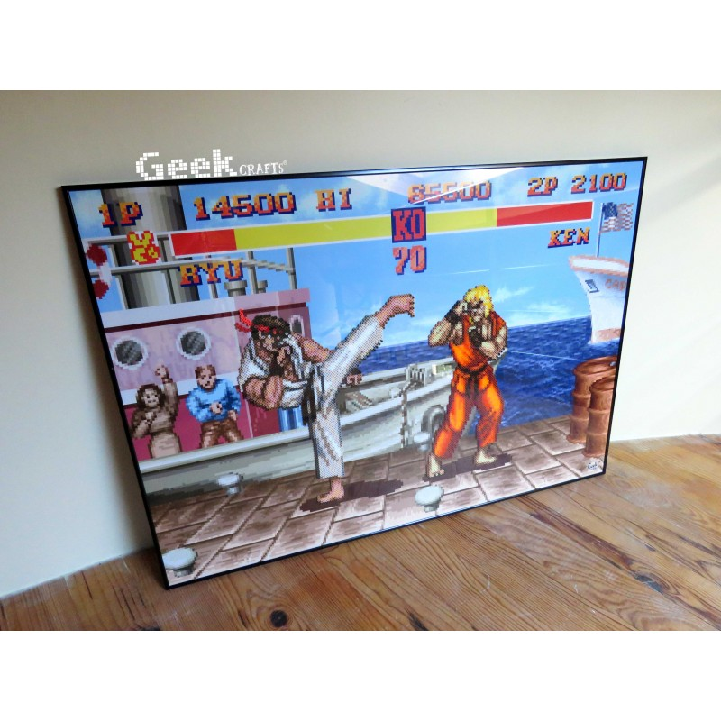 tableau-ryu-vs-ken-street-fighter-ii Geek-crafts