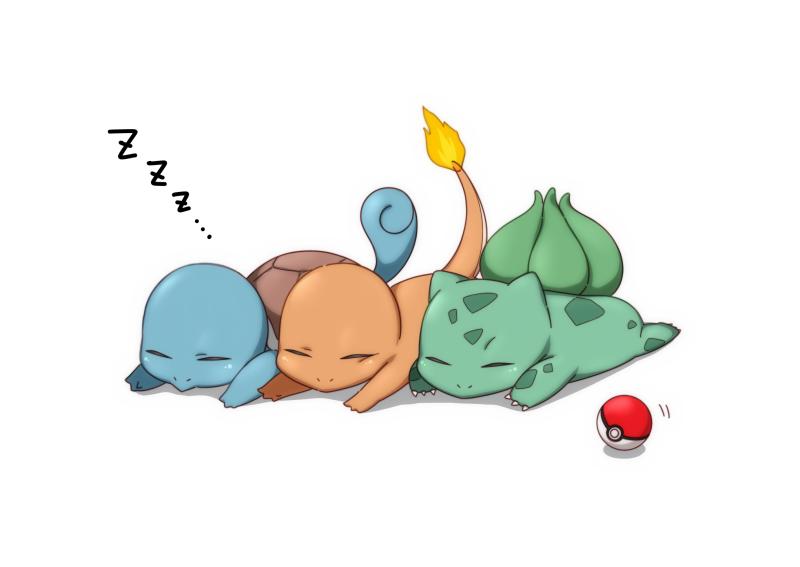 Pokemon asleep FIlle Geek