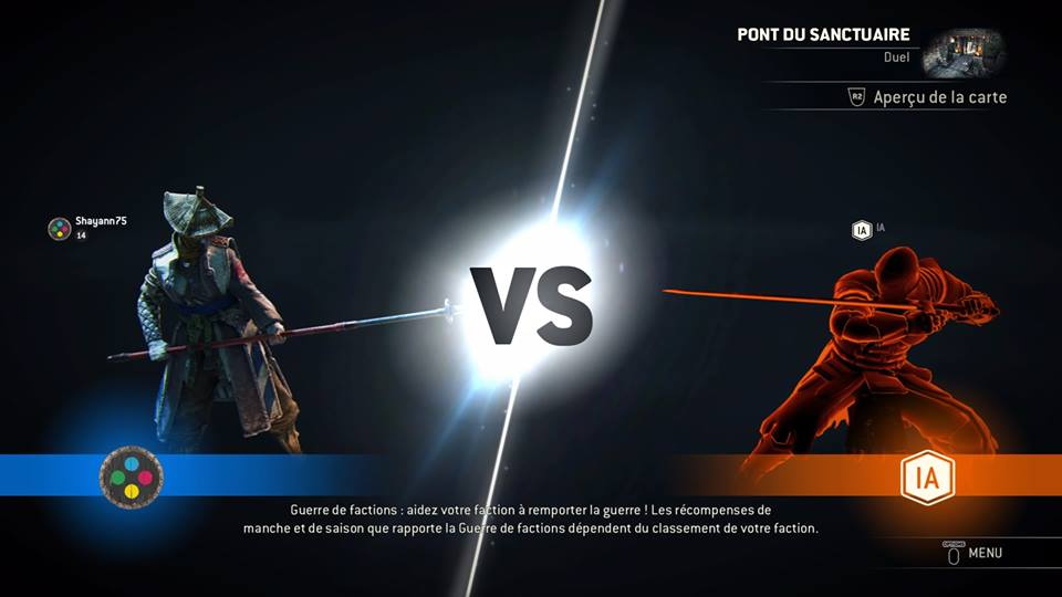 For Honor Matchmaking Fille Geek