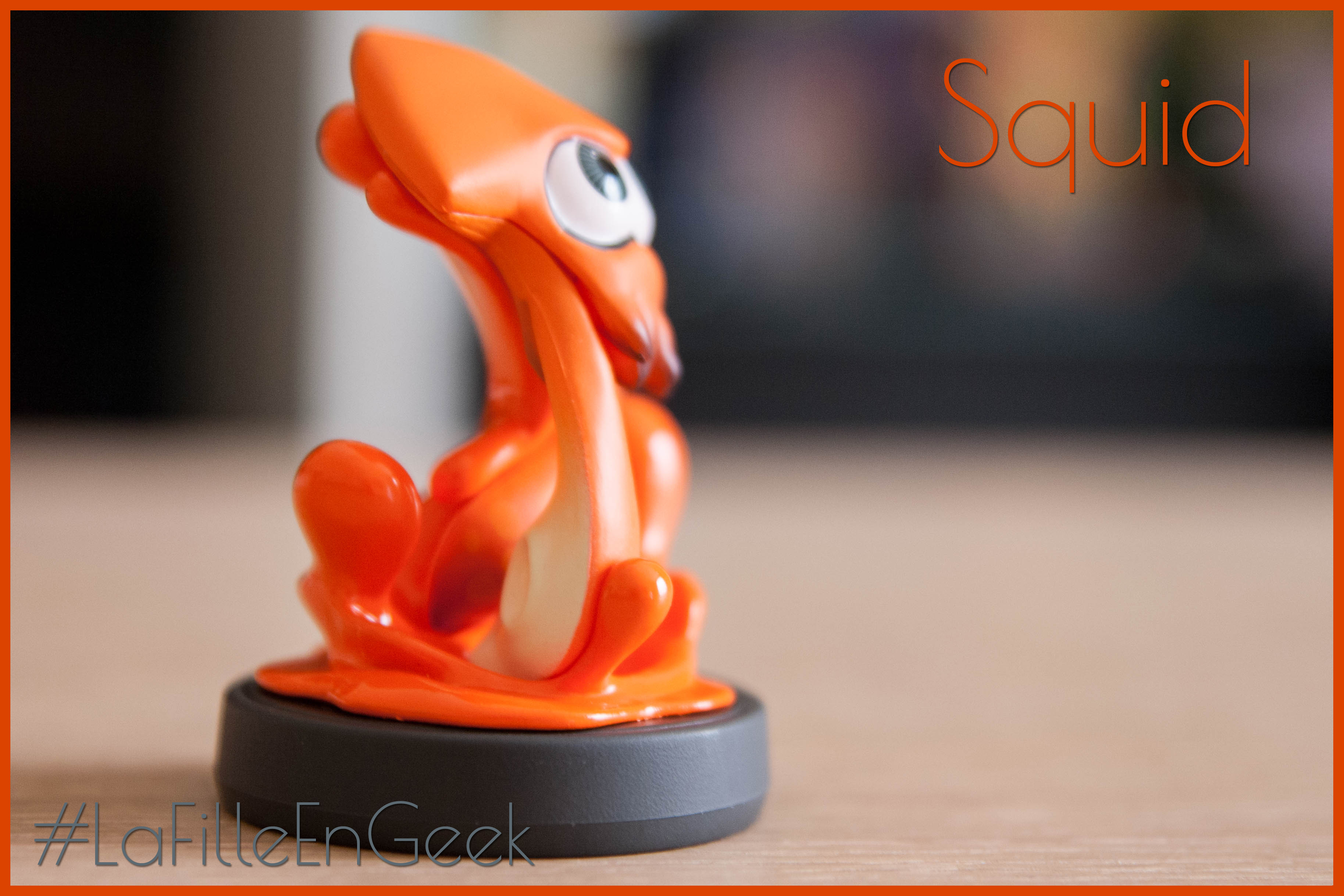 Amiibo Squid orange Fille Geek
