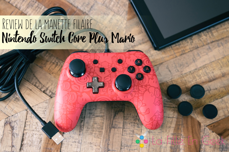 biggest discount pick up new arrival Review de la manette filaire Nintendo Switch Core plus - La ...