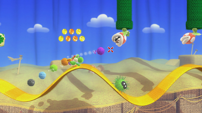 Yoshi's Woolly World gameplay