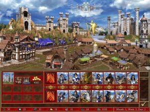 Heroes 3 Castle ville et créatures Fille Geek