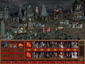 Heroes 3 Necropolis ville et créatures Fille Geek
