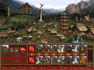 Heroes 3 Rampart ville et créatures Fille Geek