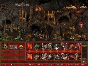 Heroes 3 Dungeon ville et créatures Fille Geek