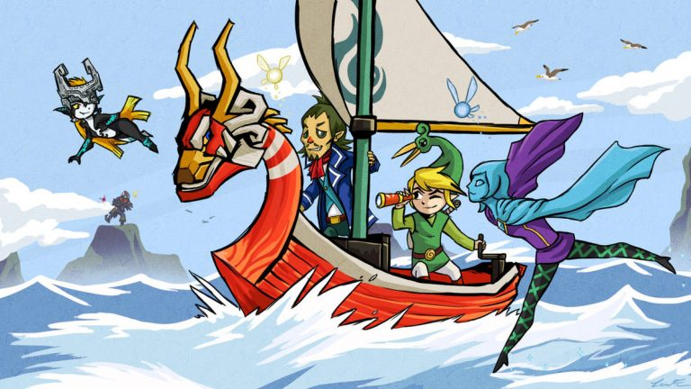 Link et ses compagnons d'aventure