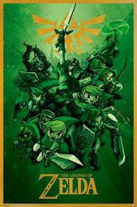 Poster Zelda Fille Geek