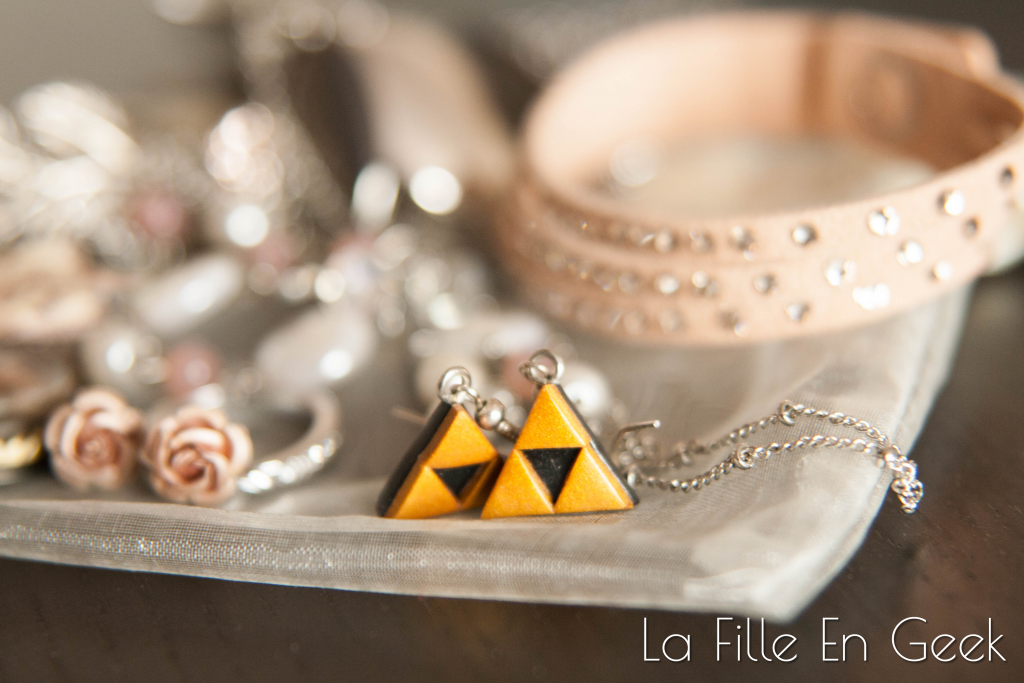 Boucles d'oreille Triforce Fille Geek