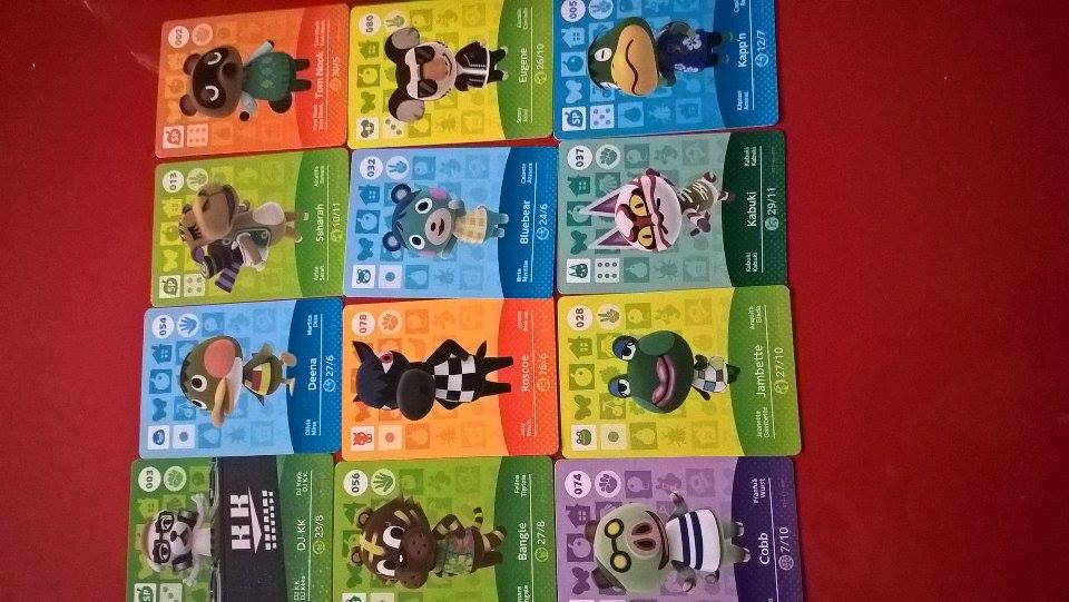 cartes amiibo Animal Crossing Fille Geek