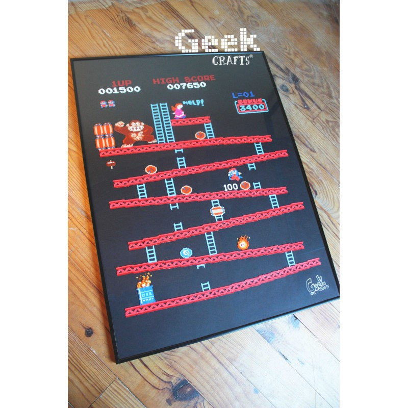 tableau-donkey-kong-arcade Geek-crafts