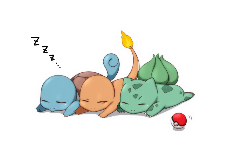 Pokemon asleep FIlle Geek