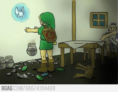 link breaking pots Fille Geek