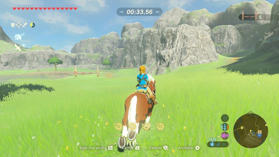 Carte Zelda BotW course d'obstacles Fille Geek