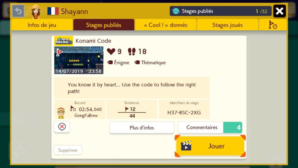 Super_Mario_Maker_2_Description Fille Geek
