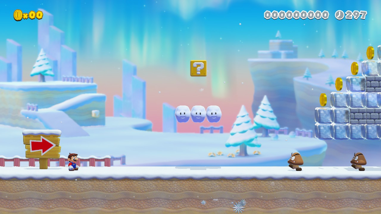 Super_Mario_Maker_2_Snow Fille Geek