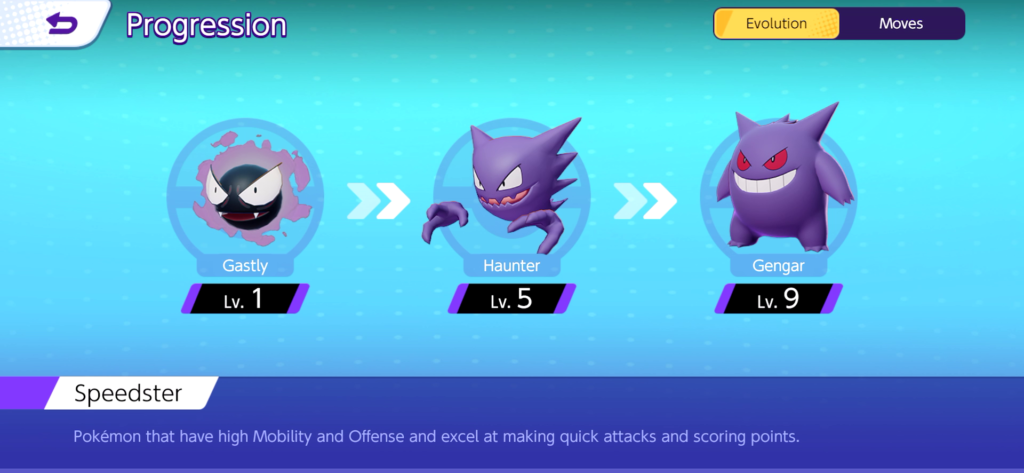 Pokemon Unite Gengar evolution